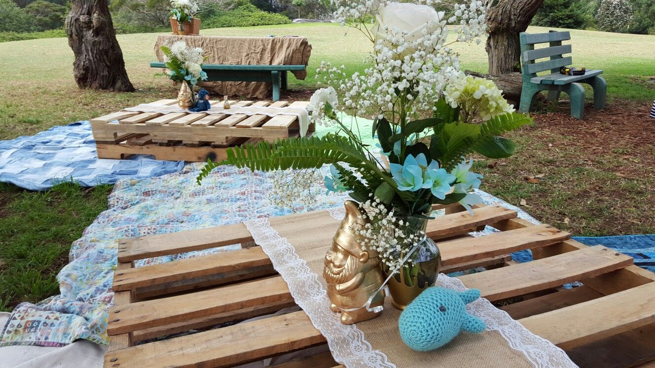 Picnic on pallets baby shower   Baby shower, Home decor, Decor