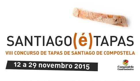 Santiago (é) Tapas 2015. Del 12 al 29 de noviembre en Santiago de Compostela. Ocio en Galicia | Ocio en Santiago. Agenda actividades. Cine, conciertos, espectaculos