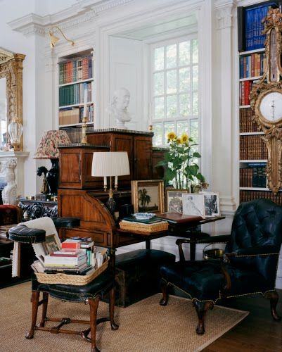 Oscar De La Renta Home another view of the late #oscardelarenta's home | english style