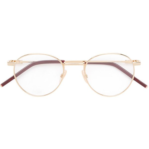 86546306605 Fendi Eyewear round frame glasses ( 395) ❤ liked on Polyvore featuring  accessories