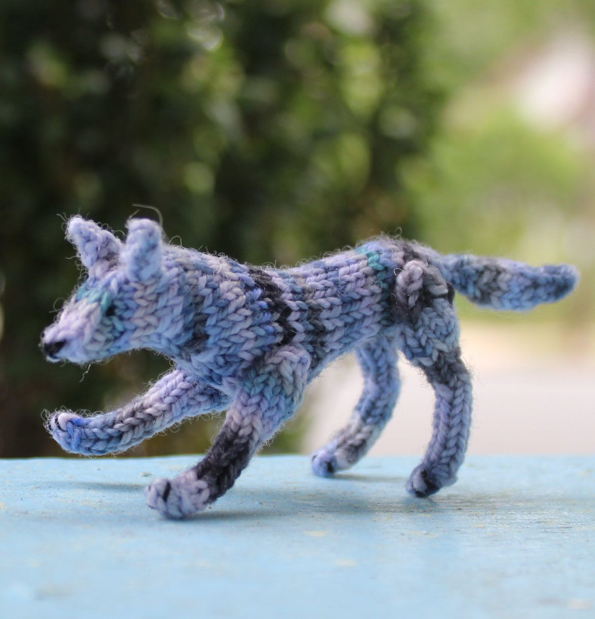 Knitting pattern for wee wolf crochet animals pinterest knitting pattern for wee wandering wolf this miniature knit jointed toy wolf is just tall x long x wide bankloansurffo Gallery