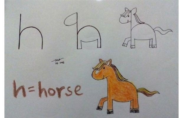 Adan Zye harflerle kolay hayvan çizimleri!
