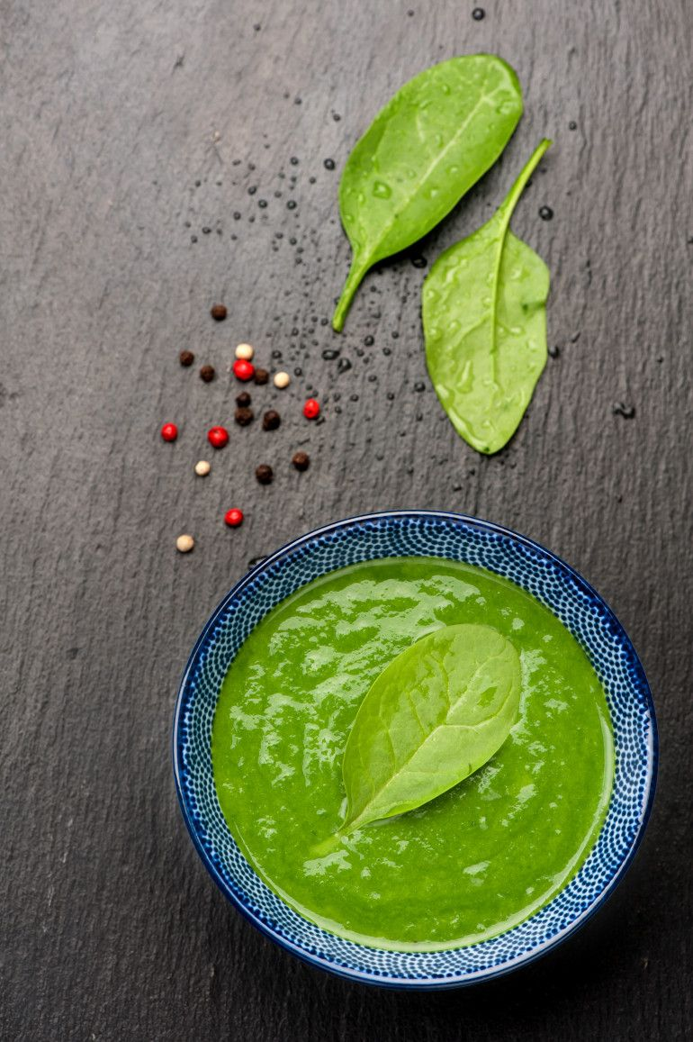 spinach and chickpea purée Pureed food recipes, Baby