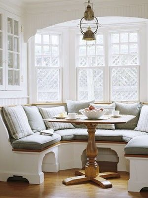 Bay window banquette possible for the kitchen bay window Home