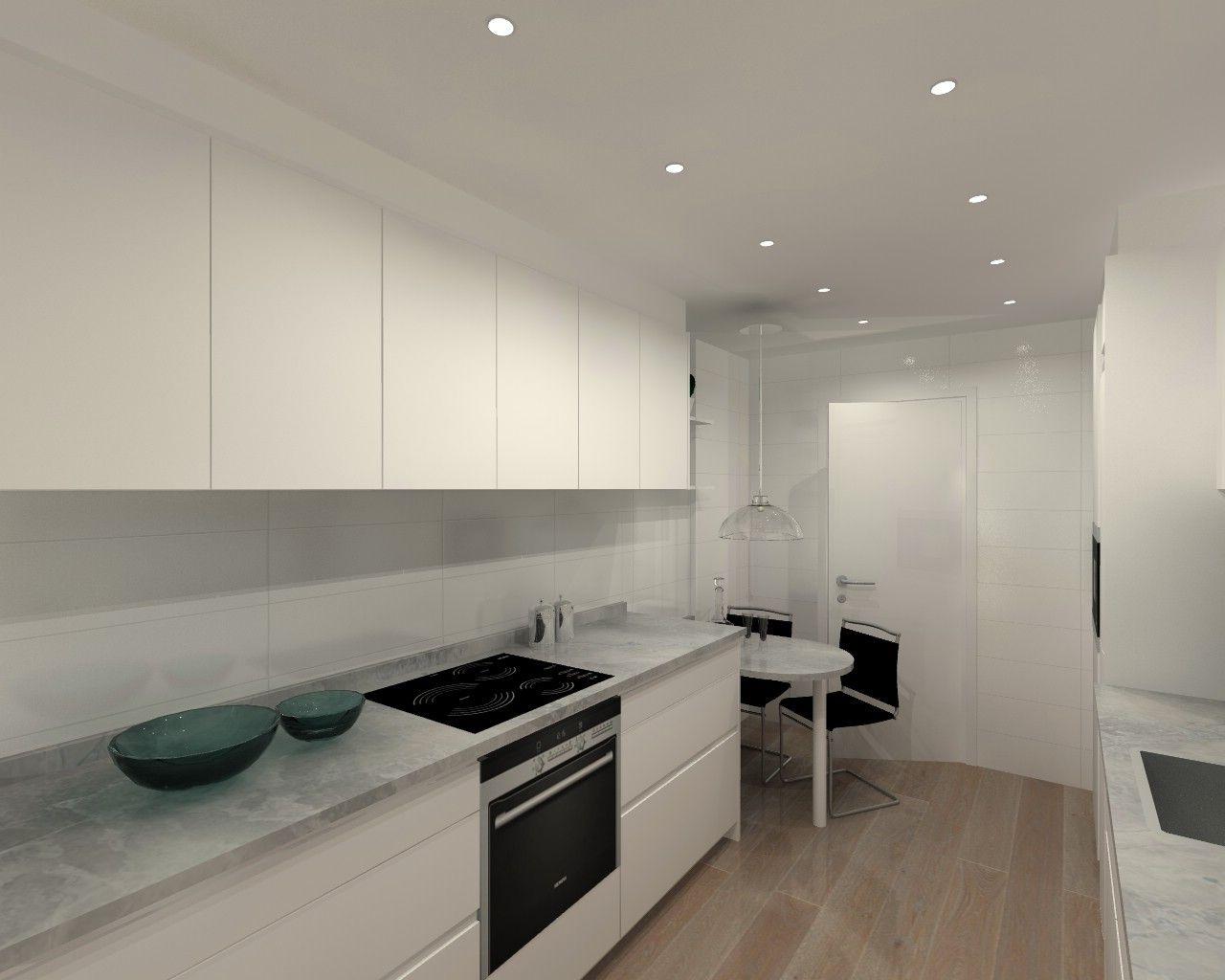 Cocina en Madrid Modelo Intra Minos con Encimera Naturamia de Santos ...