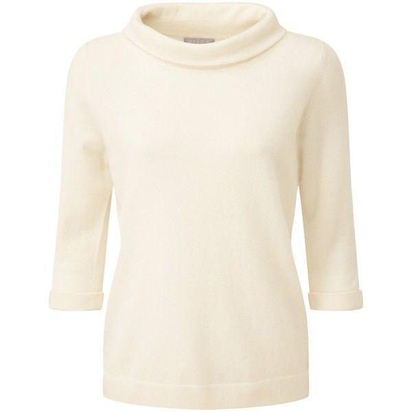 Pure Collection Tessa Cashmere Bardot Jumper, Soft White (€82 ...