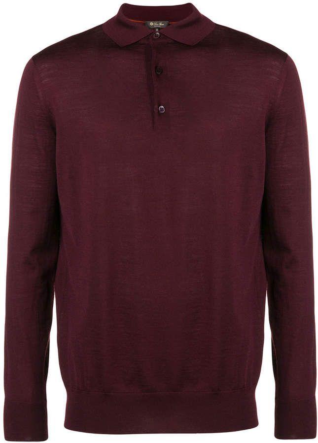 Loro Piana long-sleeve polo shirt  0a6140cefd67b