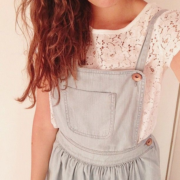lace under overalls