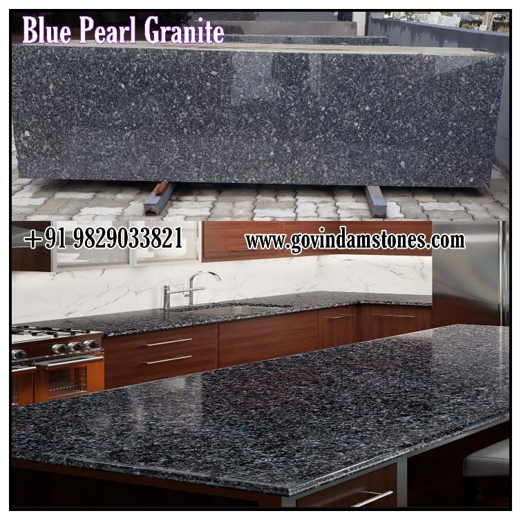 Blue Pearl Granite Is Very Popular For Countertop Applications Due To Its Durability It Can Be Also Used For Flooring Wa Blue Pearl Granite Granite Blue Pearl
