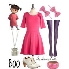 Outfit inspired by little Boo from Monsters Inc.