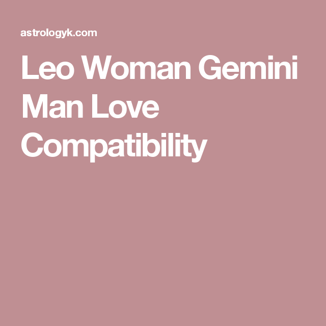 leo female dating a gemini male