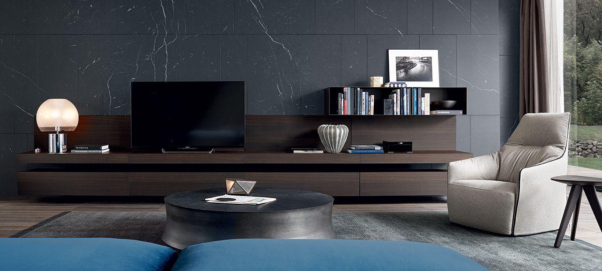 Madie Moderne Poliform.Poliform Sintesi Tv Unit Living Room Wall Units Living