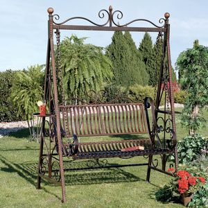 Charming Metal Porch Swing   Tips For Assembling Garden And Patio Swings