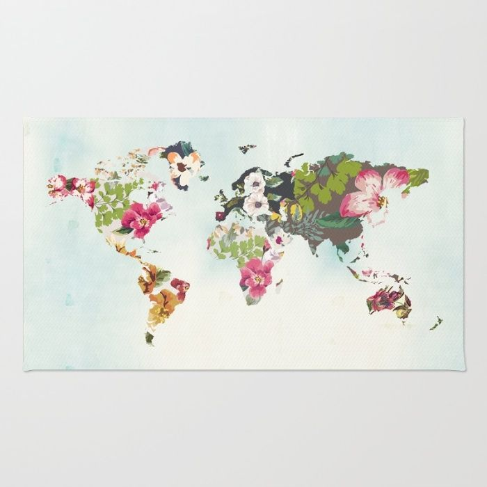 World map art print poster tropical home decor floral teal blue world map art print poster tropical home decor floral teal blue area gumiabroncs Choice Image