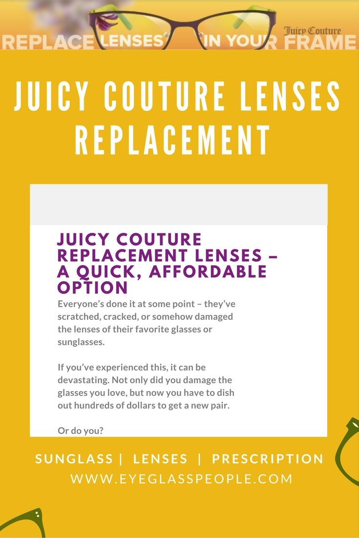 When you order your replacement lenses with EyeGlassPeople.com, you ...