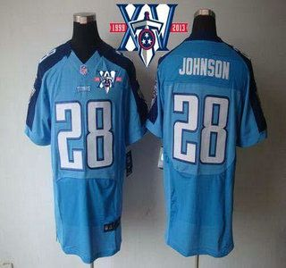 Cheap Nike Tennessee Titans Jersey #28 Chris Johnson Light Blue Team Color