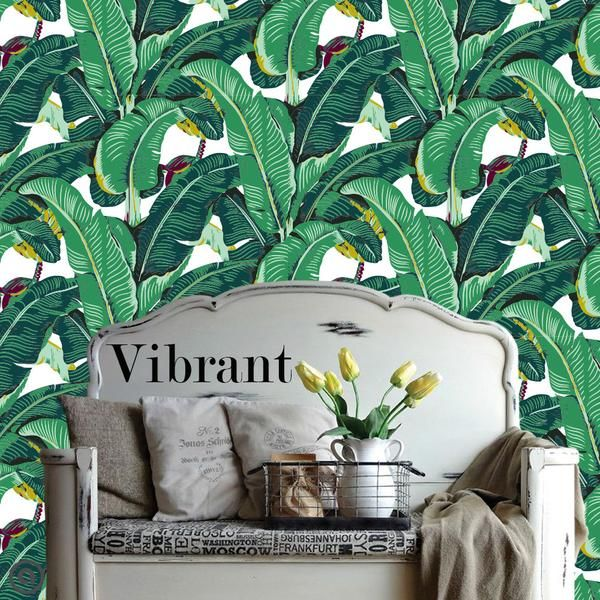 Banana Leaf Removable Wallpaper Accent Wall Customs