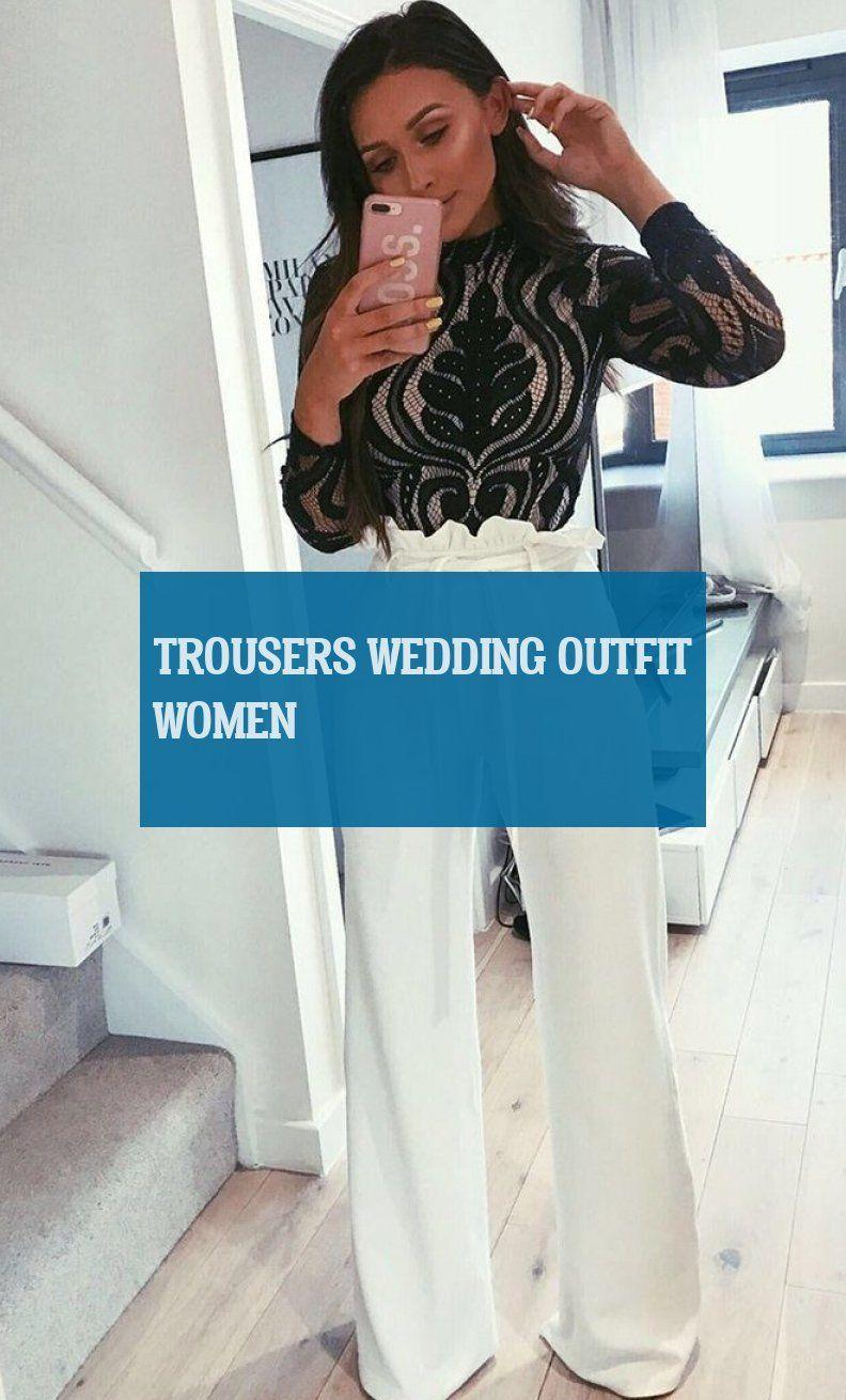 Pantalons De Mariage Trousers Wedding Outfit Women