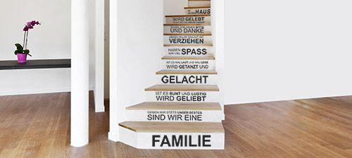 neue wandtattoos f r kreative treppenstufen wandtattoo treppe haus pinterest. Black Bedroom Furniture Sets. Home Design Ideas