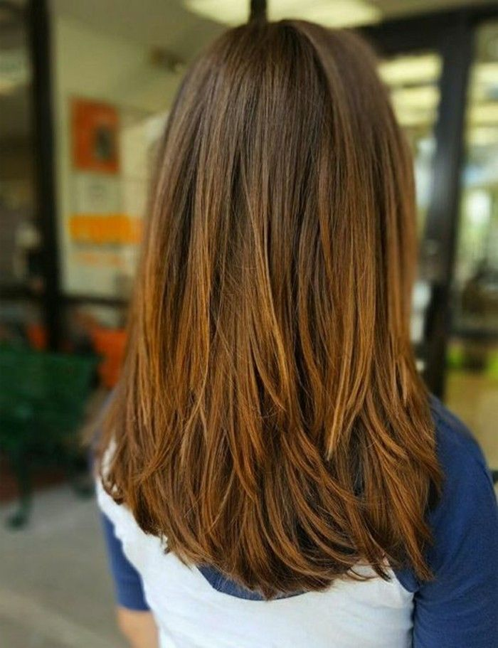 Cortes De Pelo Largo Capas Desiguales Peinados