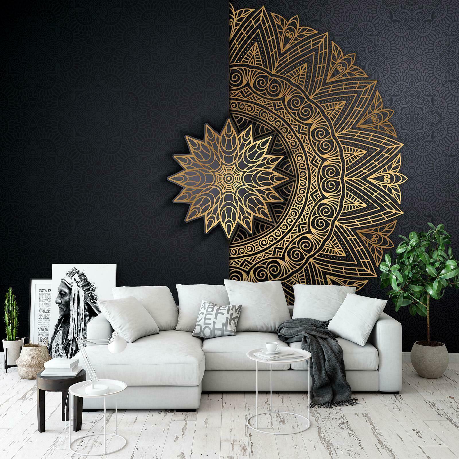 Brilliante Fototapete Tapete Wandbild 244680fw Mandala Orient Gold Abstraktion Eur 16 9 Tapeten Wohnzimmer Modern Tapeten Wohnzimmer Dekor Für Kleine Räume