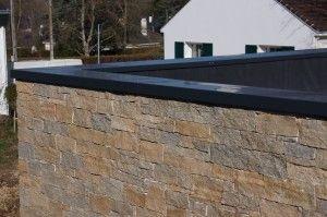 Pour Votre Toit Terrasse Pensez A La Couvertine Alu Escalier Exterieur Terrasse Parement Pierre Exterieur