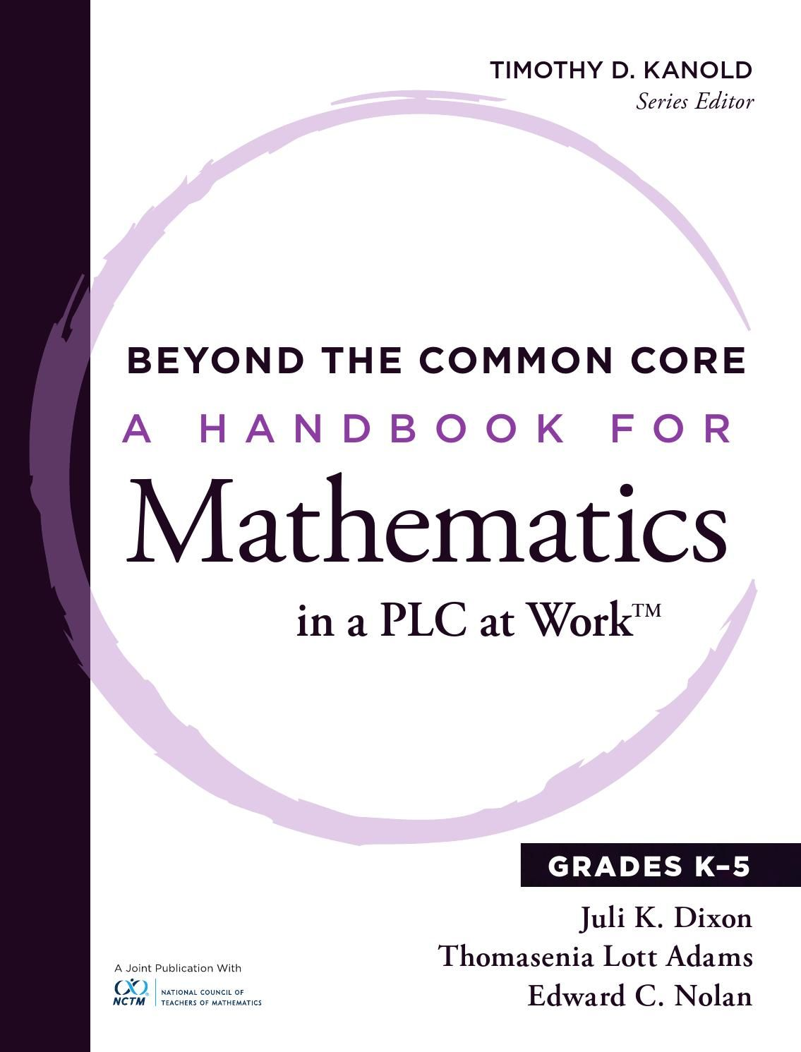 Beyond the Common Core, Grades K-5 | Math | Professional learning ...