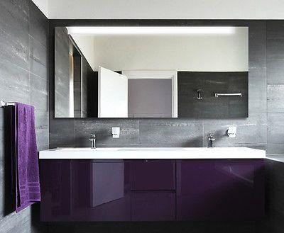 Details zu FORTE SIDE SQUARE I BADSPIEGEL BELEUCHTET NEON IN 13 - badezimmer spiegel beleuchtung