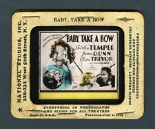 1934 Shirley Temple Glass Coming Attraction Theater Slide - Baby Take A Bow