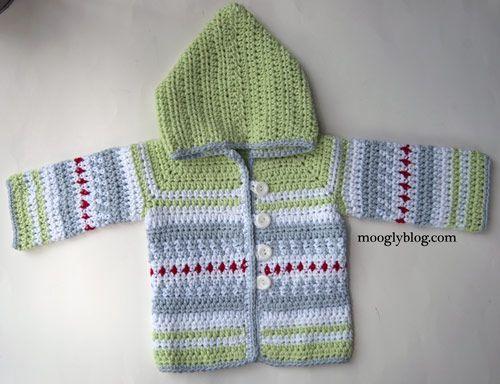 Sven Sweater Crochet Baby Cardigan Pattern From Moogly Crocheted