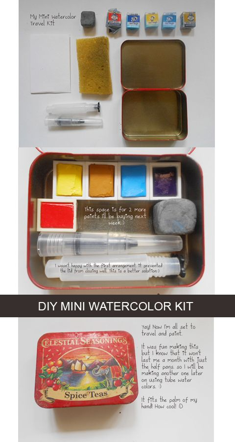 Diy Mini Watercolor Set Watercolor Kit Travel Art Kit Diy