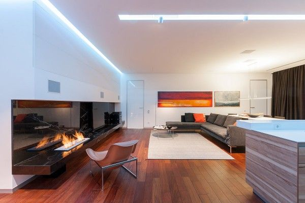 A colorful modern space for a stylish couple