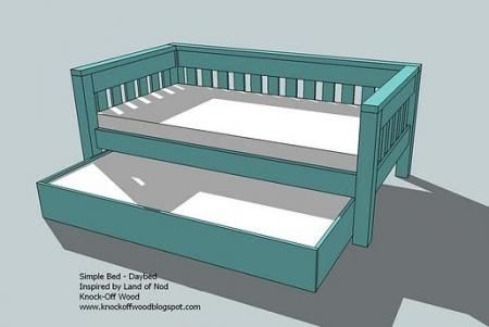 DIY daybed w/ trundle