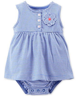 7b801ab7cc Carter s Baby Girls  Striped Bodysuit Dress