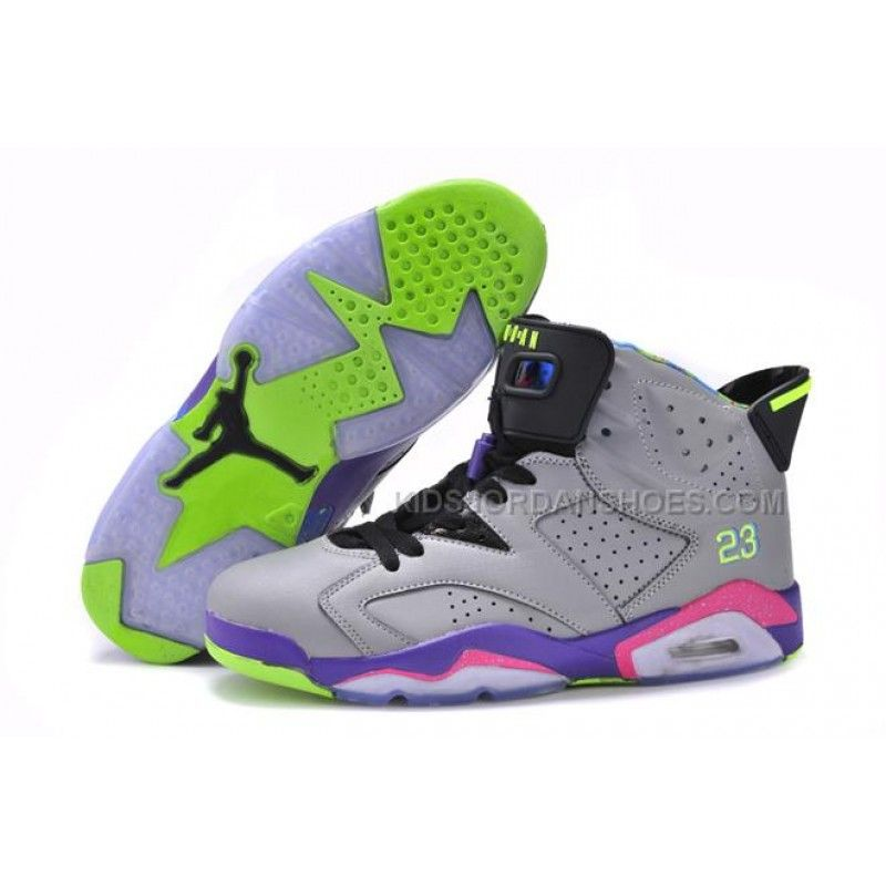 Womens Nike Air Jordan 6 Retro Basketball Shoes Green White