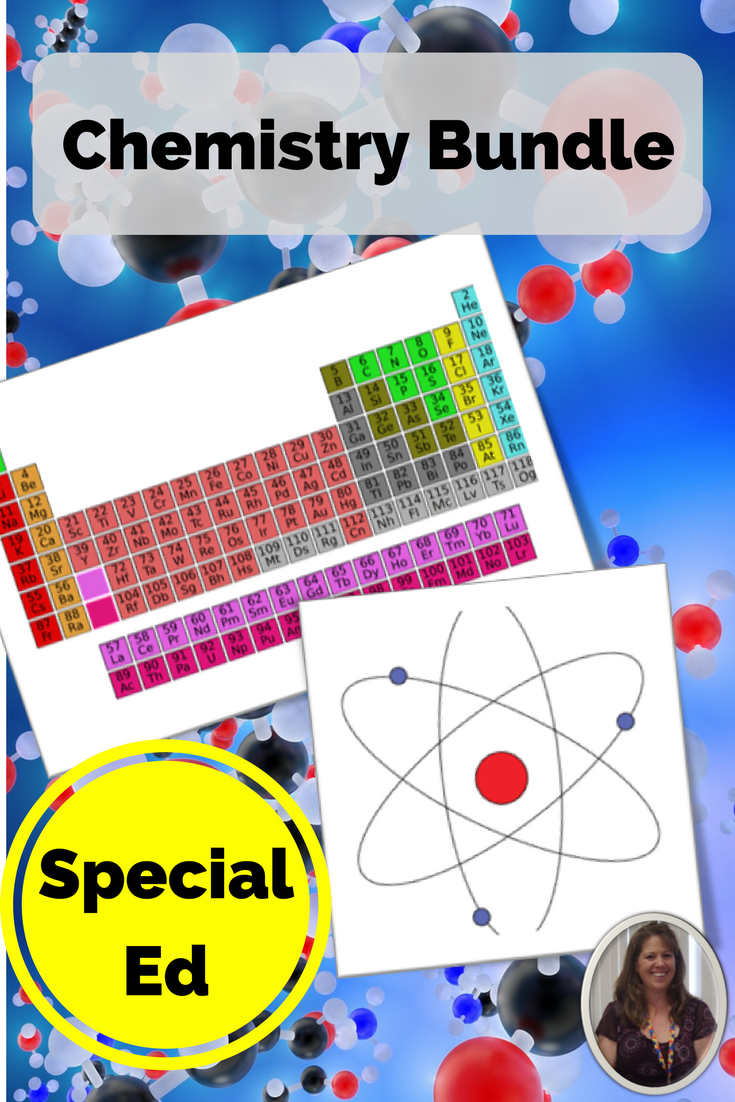 Chemistry bundle for special education science chemistry 250 pages of material on the atom and the periodic table developed for students with autism urtaz Image collections