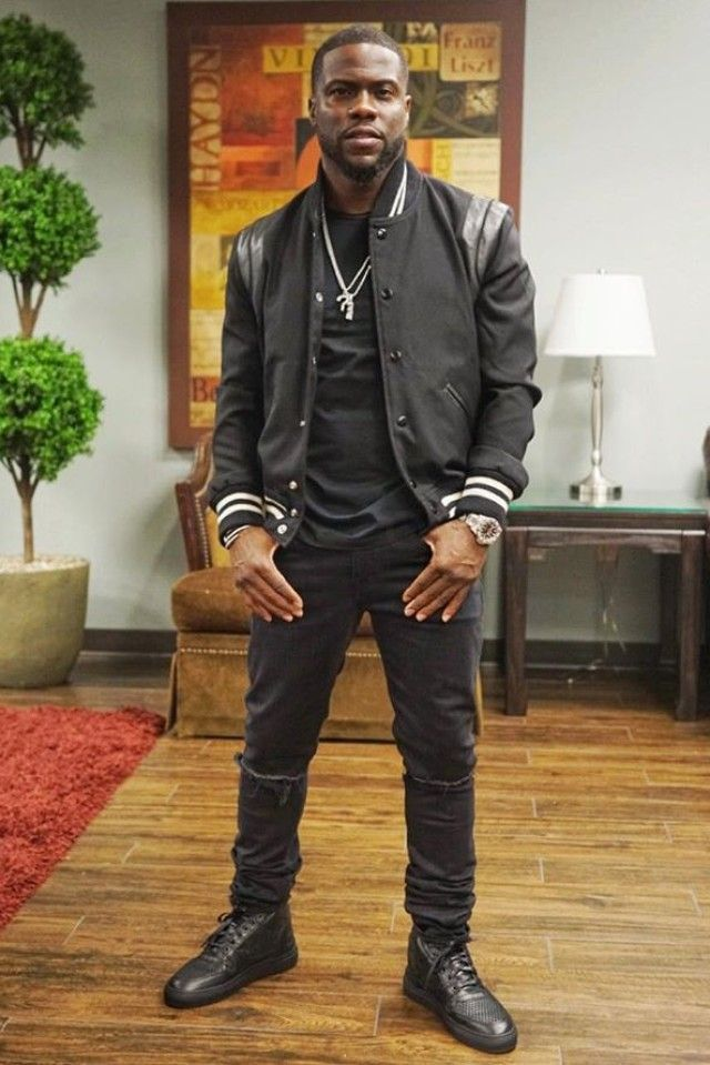 Kevin Hart wearing Saint Laurent Original Low Waisted Skinny Jeans 67d2a1331