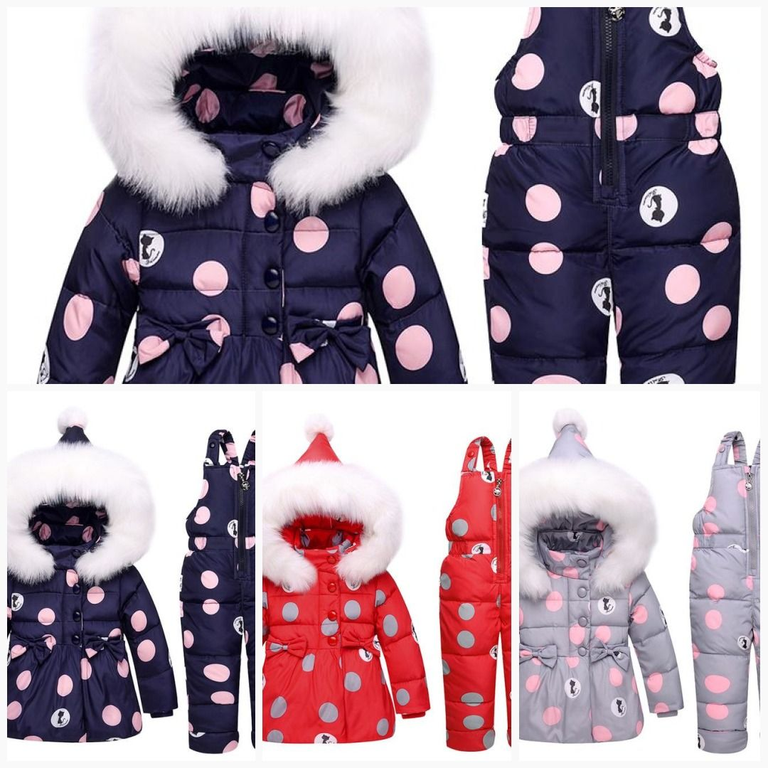 f2e350e85 ZTOV Winter Children Girls Clothing Sets Warm hooded Duck Down ...