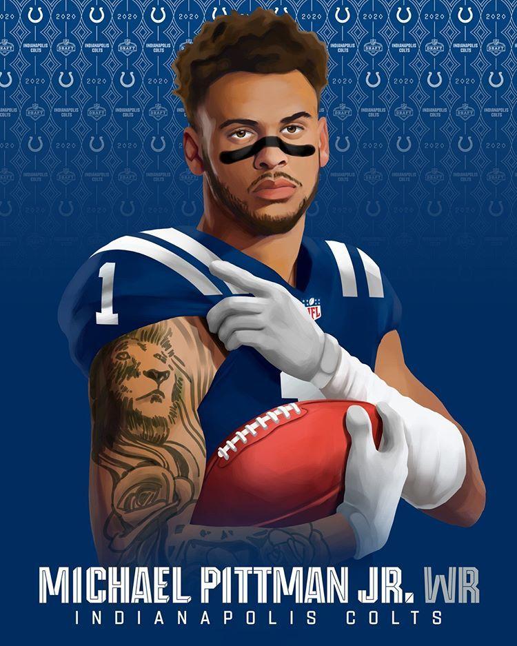 Michael Pittman Jr S Headed To Indy Nfldraft In 2020 Nfl Football Art Nfl Football Wallpaper Nfl Football