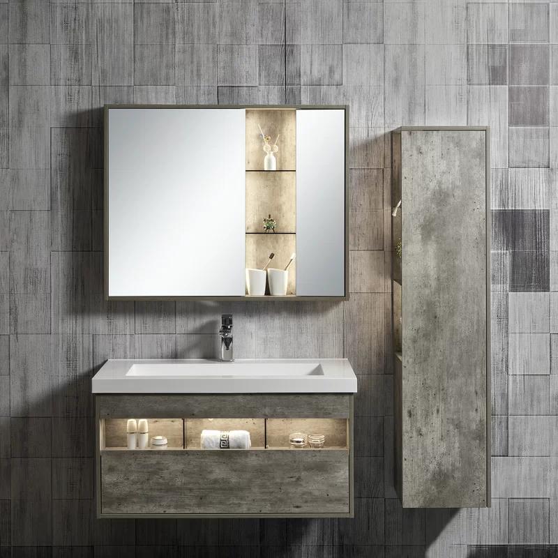 Gloria 39 Wall Mounted Single Bathroom Vanity Set With Mirror Single Bathroom Vanity Vanity Set With Mirror Bathroom Vanity