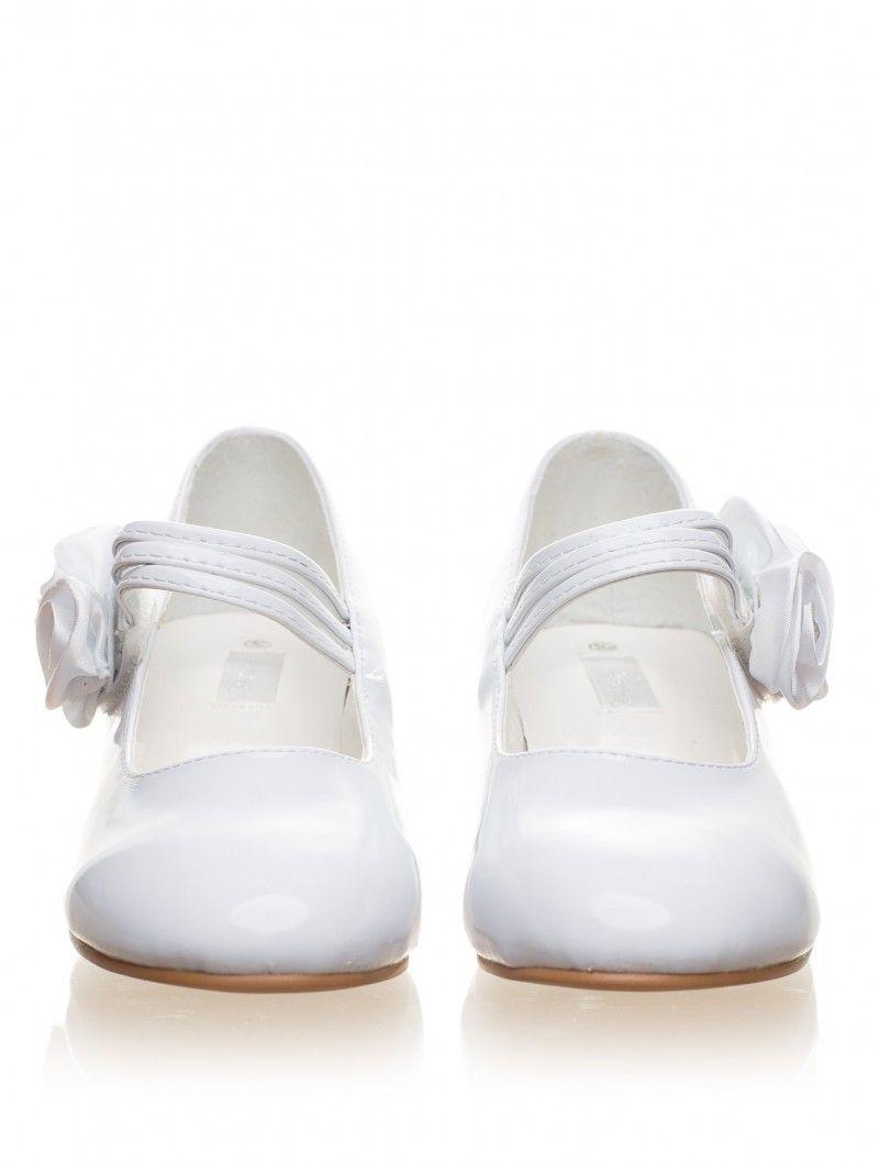 Girls White Shoes Lourdes Elegant Flower Girl Shoes Perfect For
