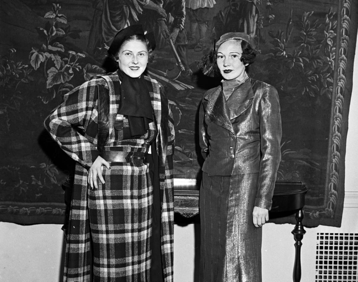 Hotel Pennsylvania fashion show, 1933 Model Mona Mora (l