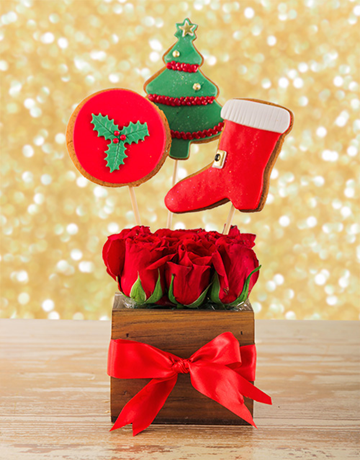 Buy Christmas Edibles And Roses Online Netflorist Christmas Gifts Christmas Christmas Gifts For Her