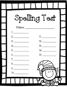 Christmas Spelling Test Paper   Word  Fun Words Homeschool