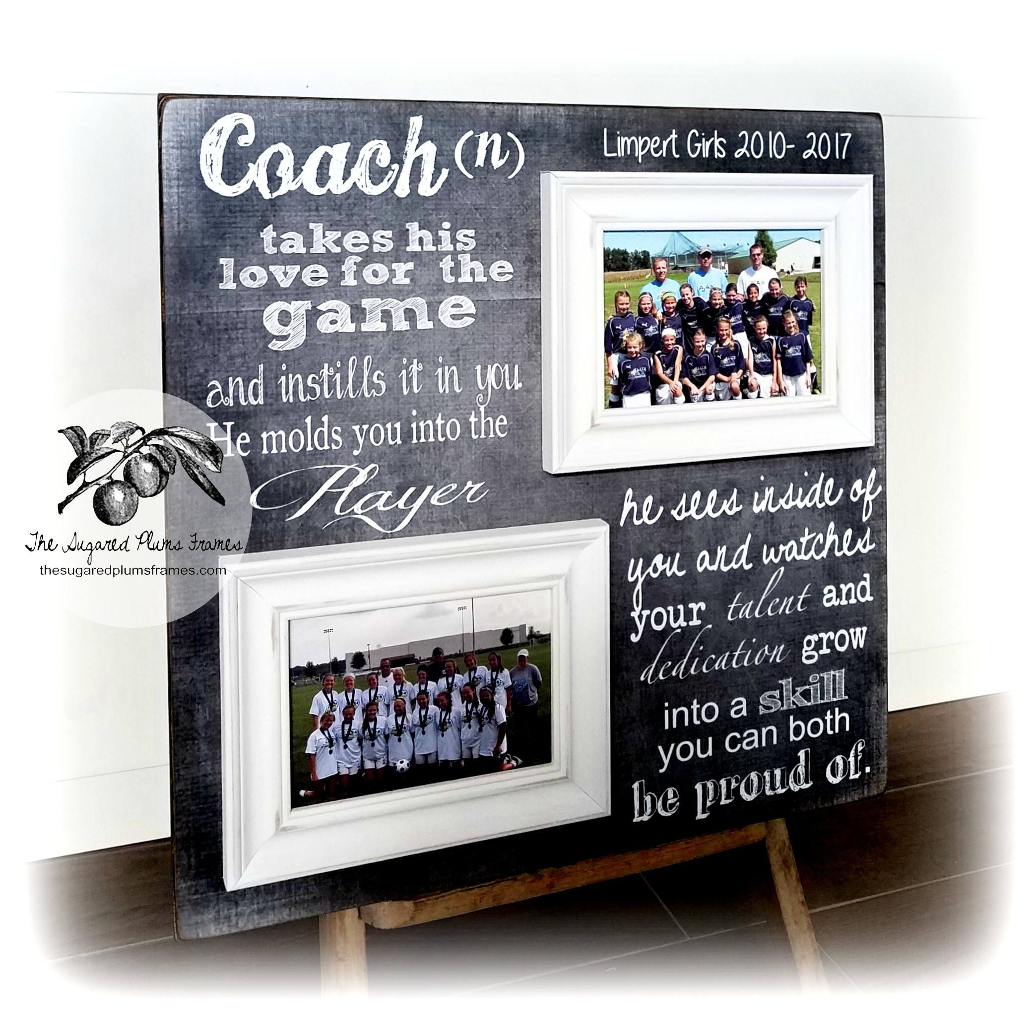 Thank You For Visiting The Sugared Plums Frames Our Coach Gift Frame Is The Perfect End Of Season Gift For Your Soccer Coach Gifts Soccer Coaching Coach Gifts