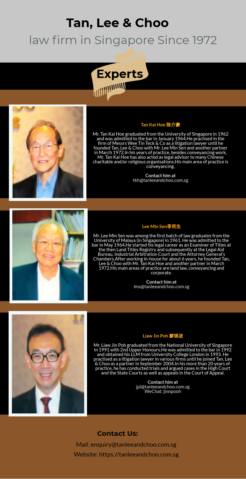 Connect With The Best Singapore Expert Lawyers Team At Tan Lee And