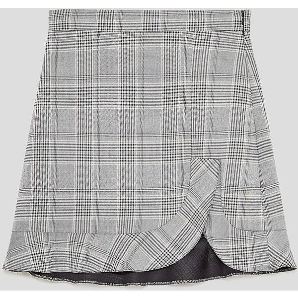 00fb2634 MINI SKIRT WITH FRILL - NEW IN-WOMAN | ZARA Canada ($39) ❤ liked on ...