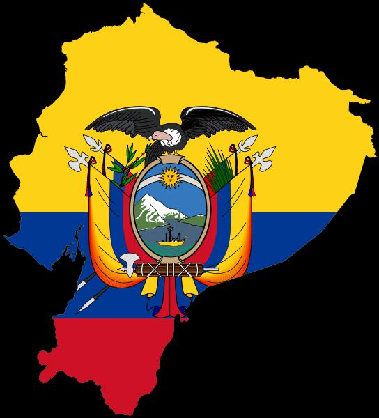 File:Flag-map of Ecuador.svg