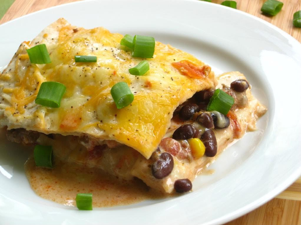Santa Fe Breakfast Bake ~T~Love this make ahead breakfast. Put it together and chill overnight then bake in the morning. A filling of sausage, salsa, beans and corn, layered with tortilla strips (corn or flour), then cheese, repeated in layers. Pour a mixture of sour cream (I use Greek yogurt), milk, eggs,and salt. Bake in the morning and top with sliced green onions. Serve with salsa, sour cream and avocado slices.