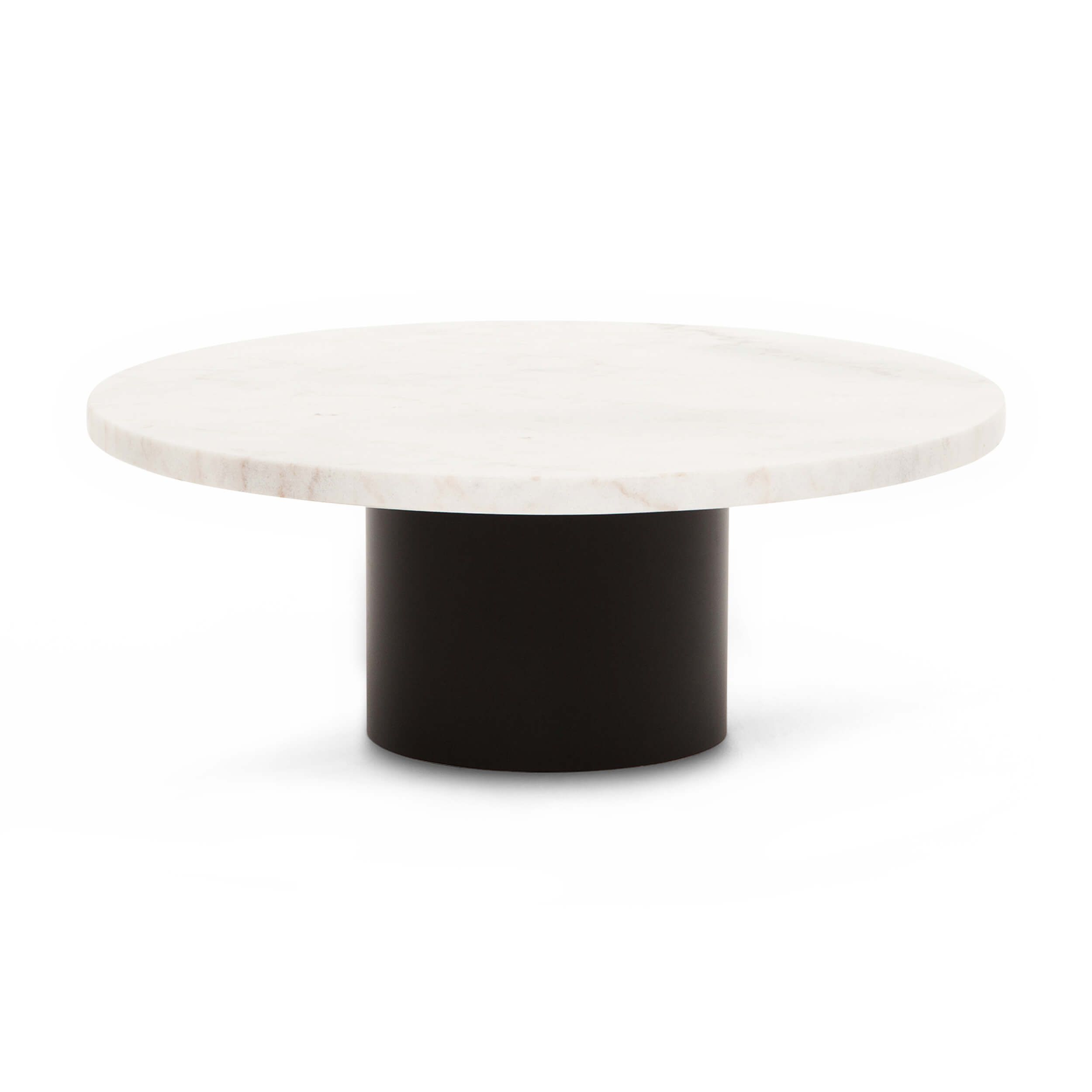 Now Available In A Sleek Black Base The Ynes Coffee Table Has A Throwback Feel Top Is 38mm 1 Modern Glass Coffee Table Coffee Table White Round Coffee Table [ 2500 x 2500 Pixel ]